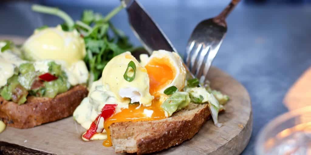 the botanist egg, avocado and chilli on toast