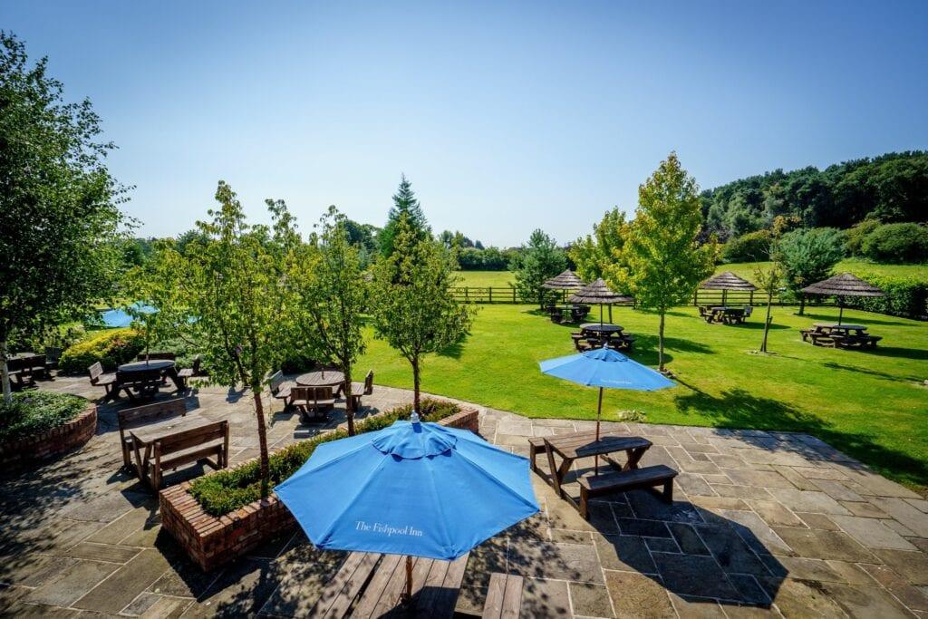 the fishpool inn beer garden