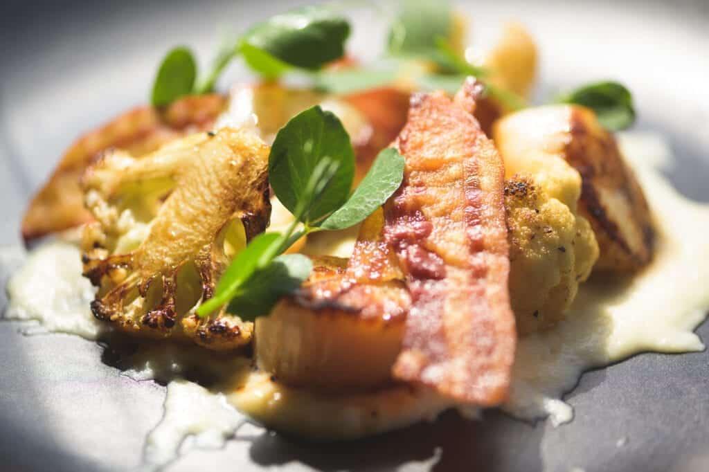 The Yard Food In Chester Seared Scallops Italian Fine Dining