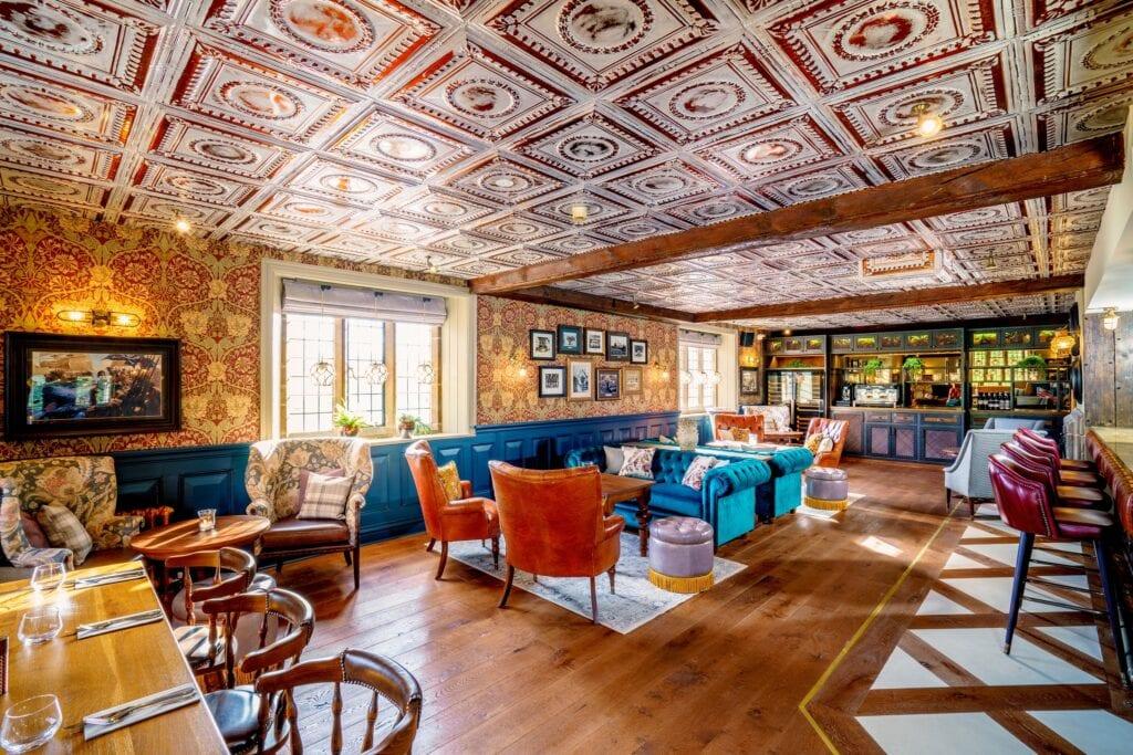 nelsons bar grosvenor pulford hotel spa refurbished bar