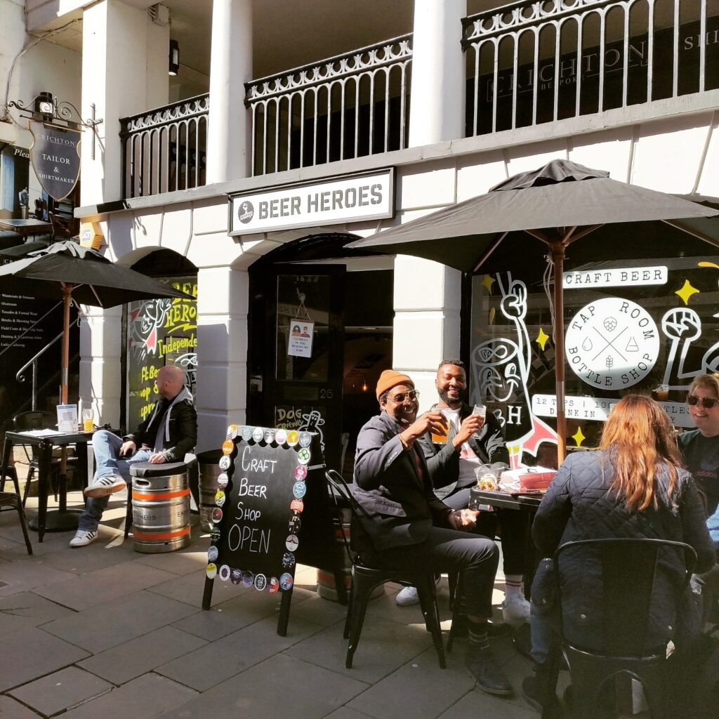 beer heroes chester outside seating