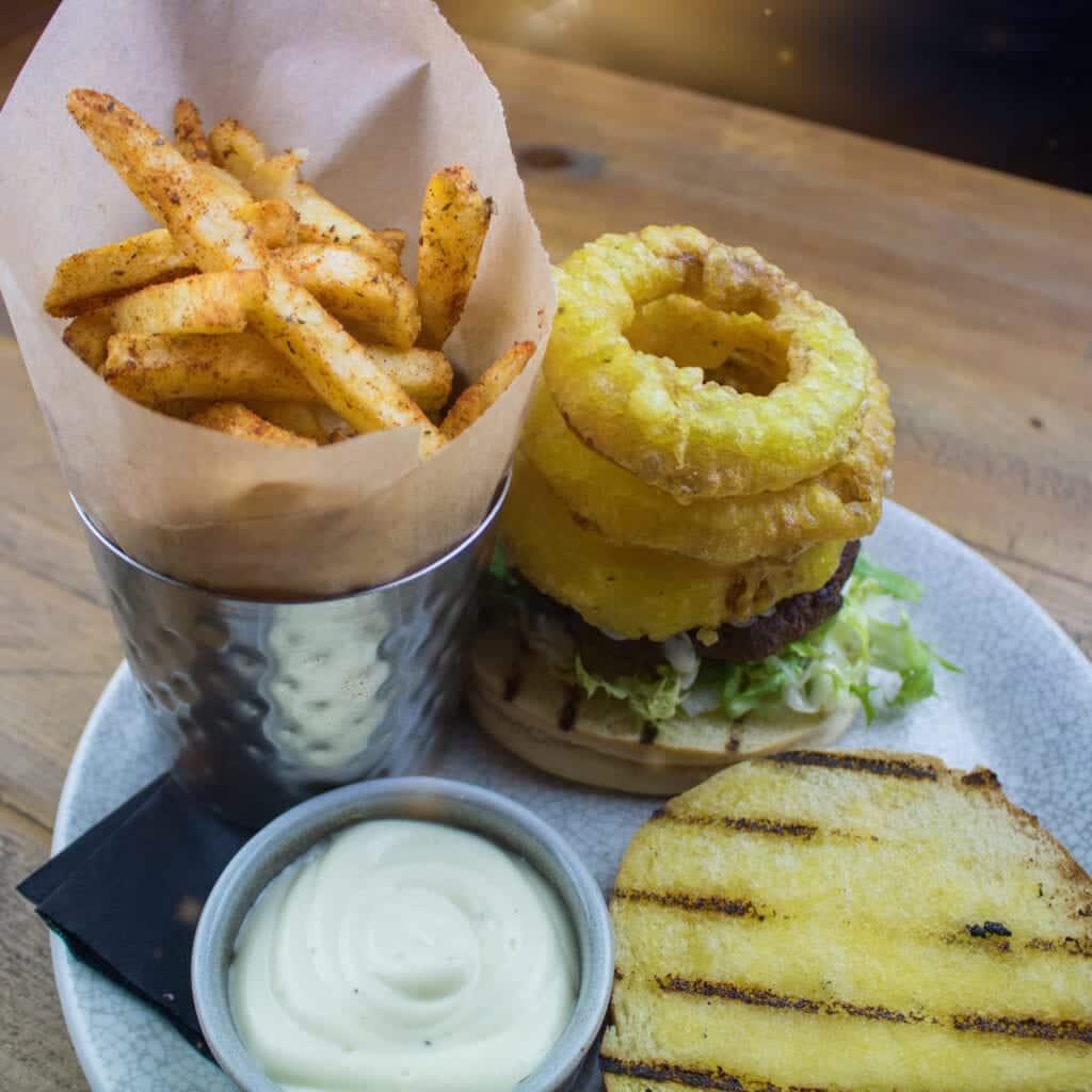 Olive Tree Brasserie Vegan Burger