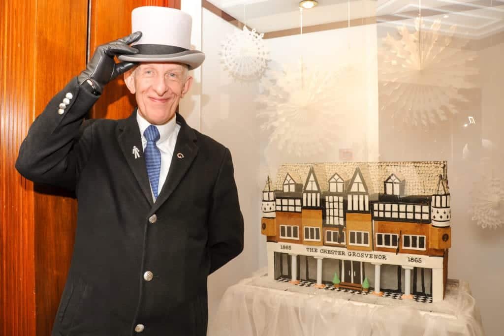 The Chester Grosvenor Hotel made from gingerbread
