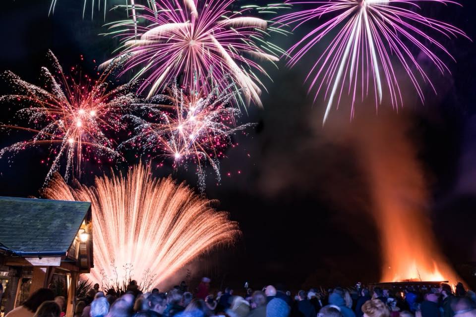 the chester fields bonfire night firework display