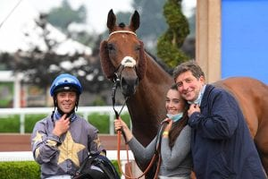 A Double On The Day For Jockey Ben Curtis, Pictured Here In The Winners Enclsoure With Heart Of Soul