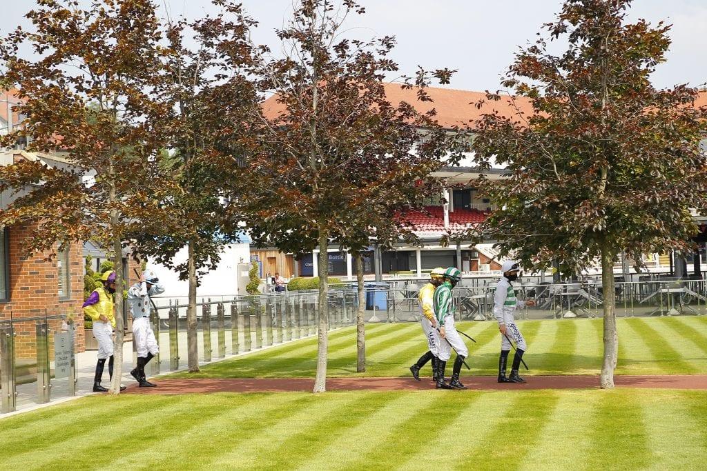 Jockeys At Chester.// Pic Steve Davies