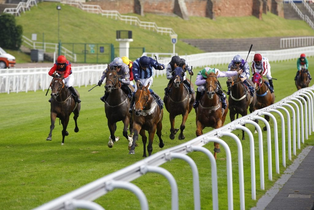 Militia And Kevin Stott [centre] Wins The Chester Rugby Club Handicap At Chester From Lihou [right].