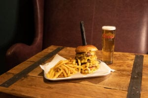 The Old Dukes Giant Burger Coors