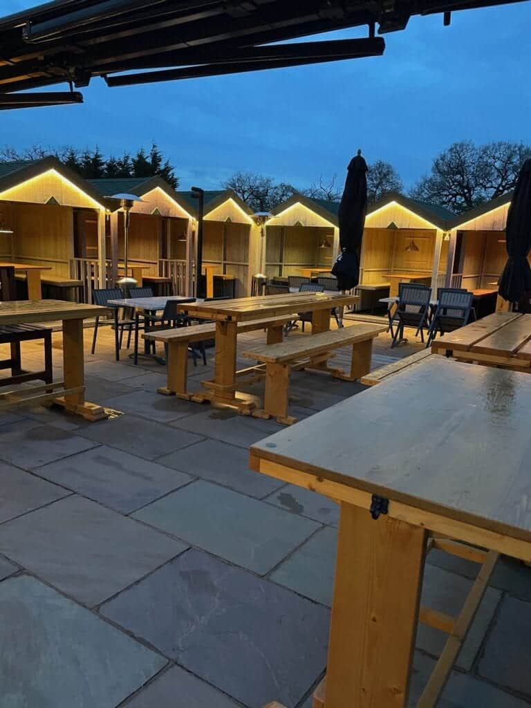 The Wild Goose Lakeside Bar And Restaurant Beach Huts.