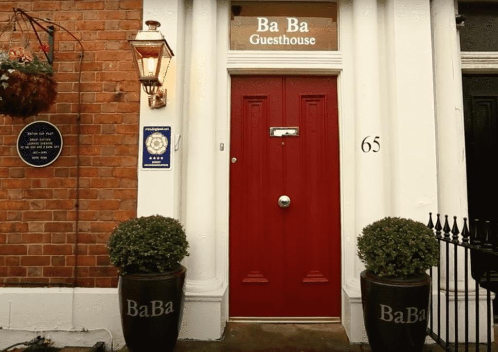 ba ba guest house hoole road chester entrance